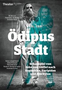 Plakat Oedipus Stadt