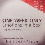 One Week Only - Emotions in a Box